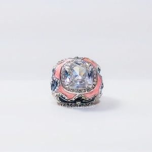 Jewelry - Cocktail Ring Crystal Pink Blue Flower Size 8